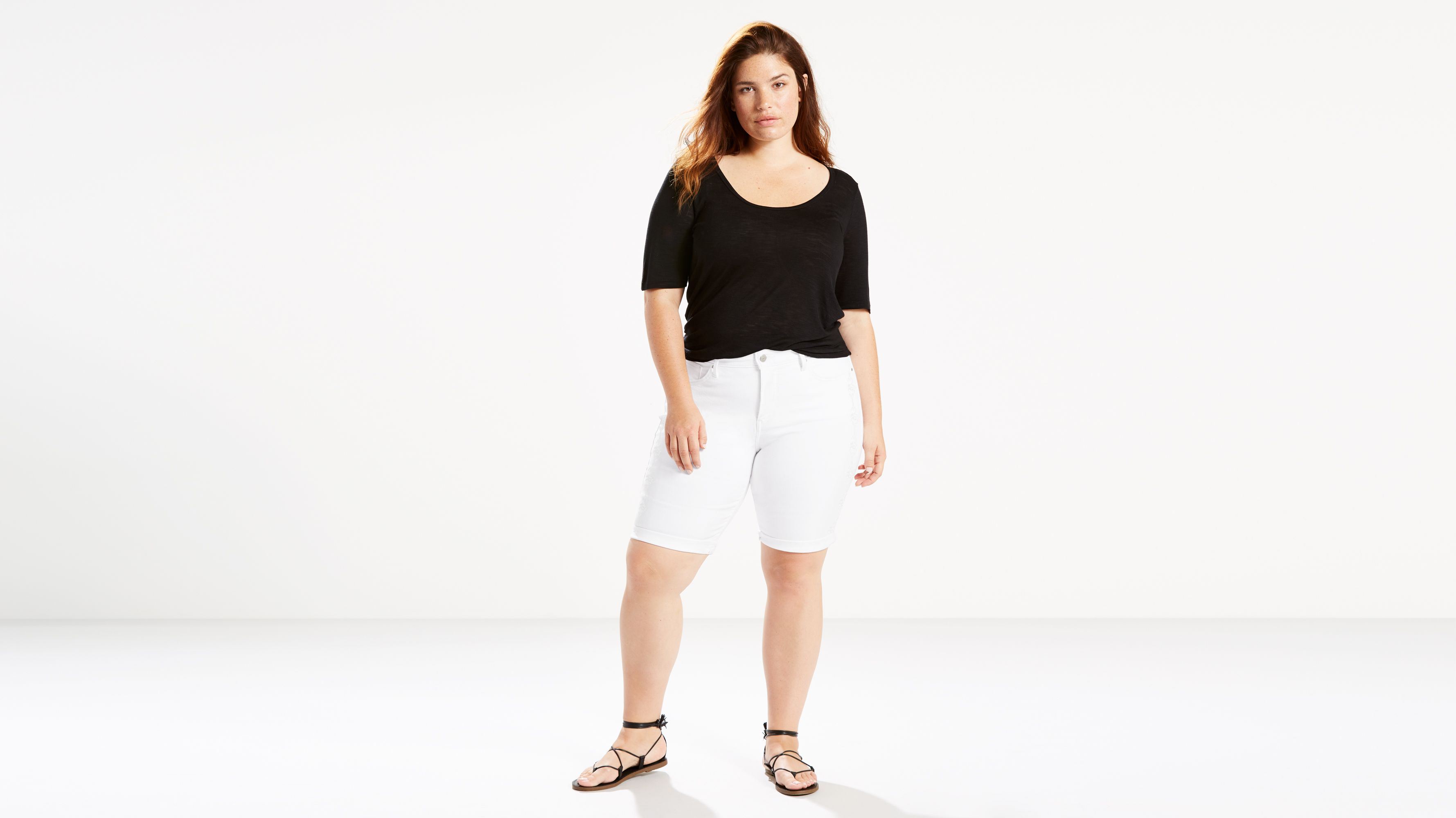 c23bd3797d Shaping Bermuda Shorts (plus Size) - White | Levi's® US