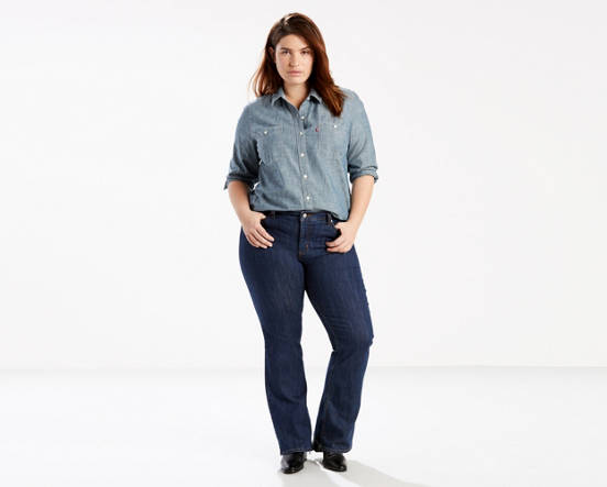 2502ed8a47f47 Mouse over image for a closer look. 415 Classic Boot Cut Jeans (Plus Size)  ...