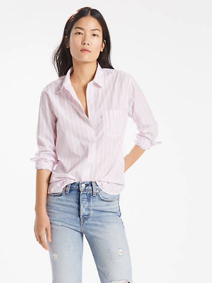 Sidney One Pocket Boyfriend Shirt