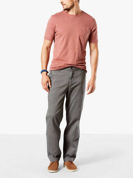 Men's Big & Tall Washed Khaki Pants