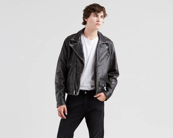d96e31668 Leather Moto Trucker Jacket