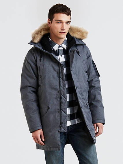 Hooded Down Parka Coat