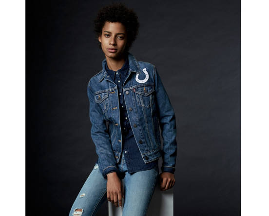 de582319f92 Mouse over image for a closer look. Levi s® NFL Denim Trucker Jacket ...