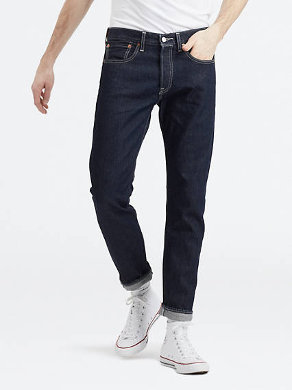 Jeans homme coupe carotte
