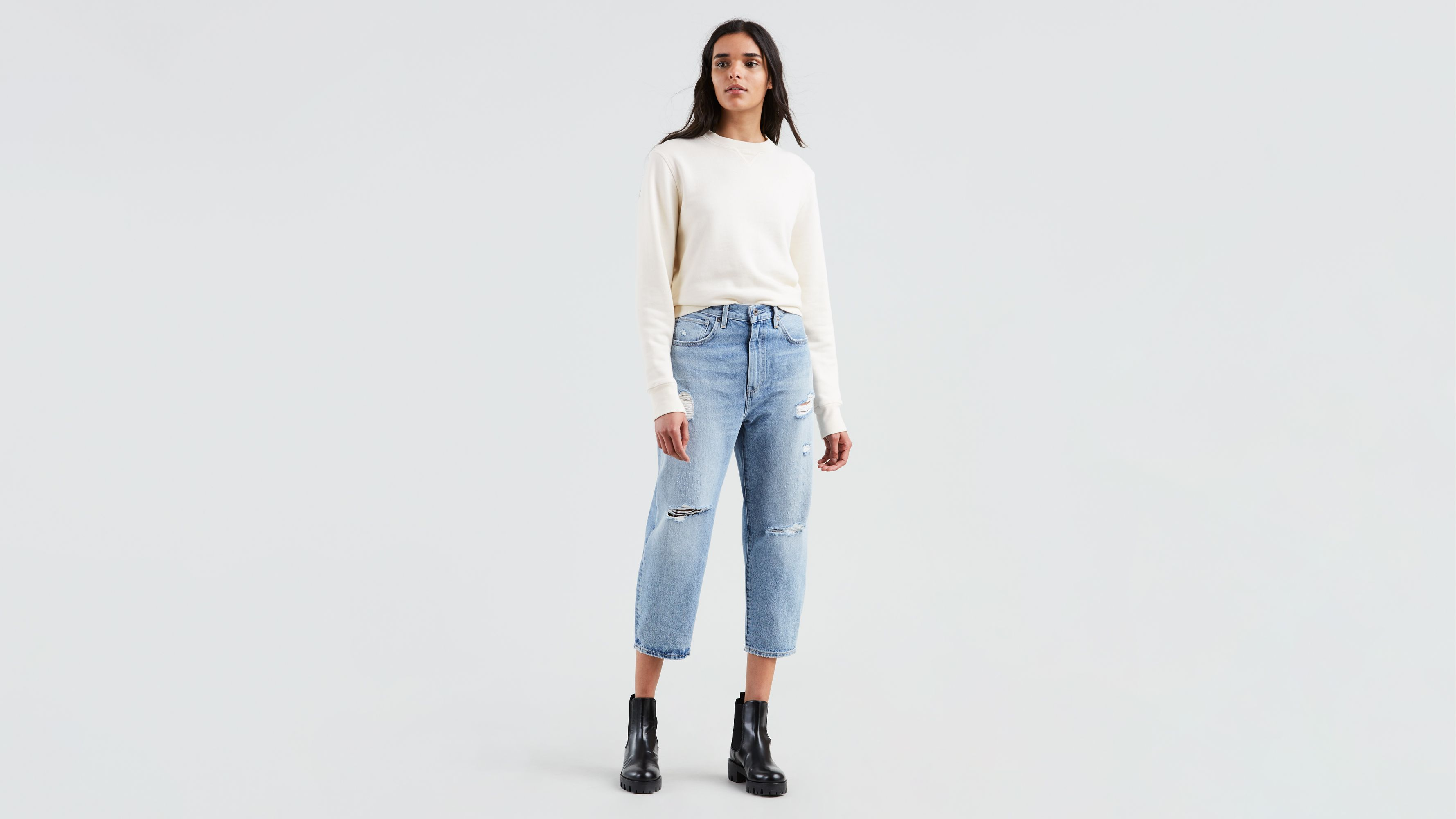4d82f167f Levi's® Made & Crafted® Barrel Jeans - Średnie Indygo | Levi's® PL