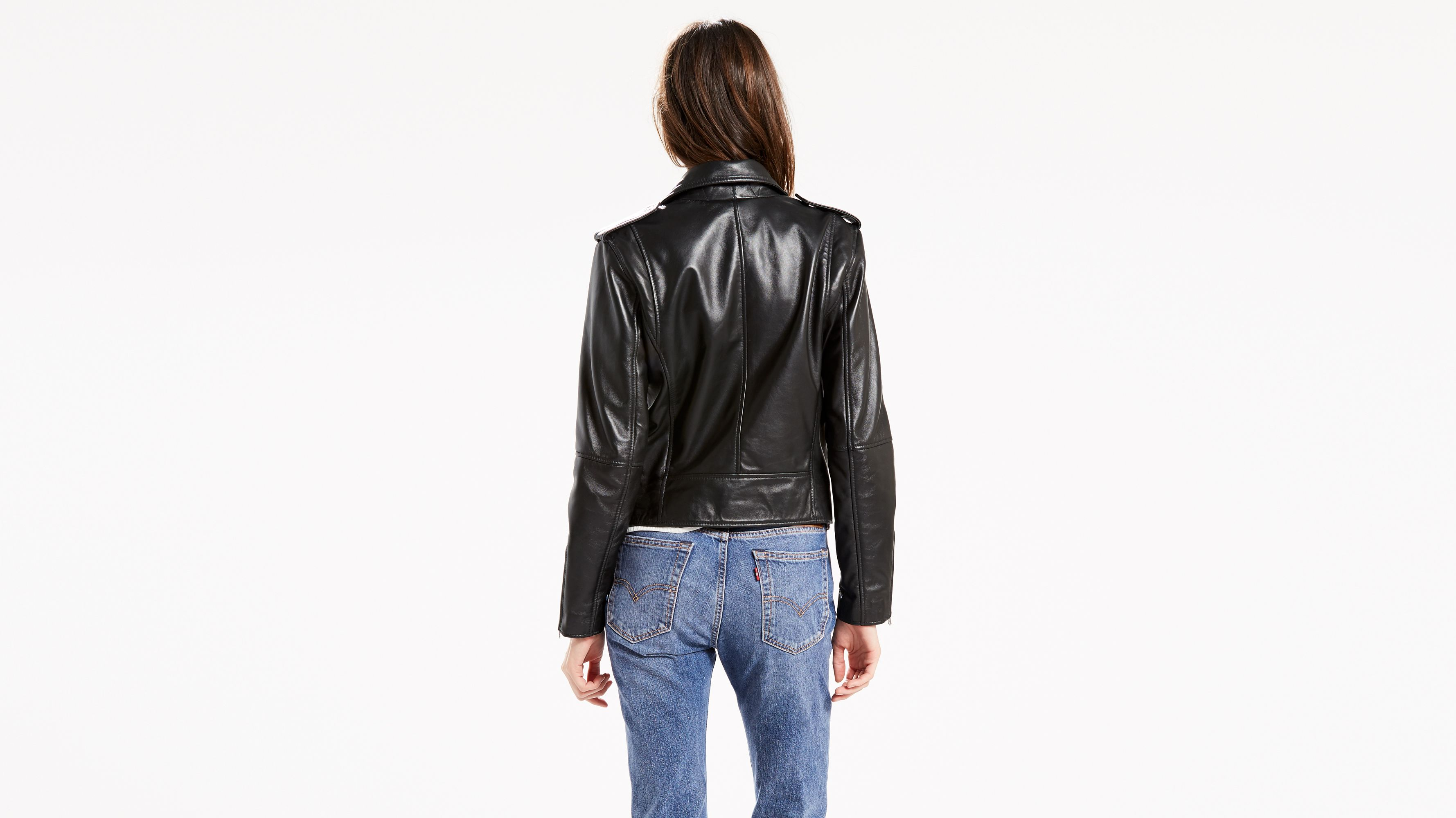 d6467358 Relaxed Leather Moto Jacket - Black | Levi's® US