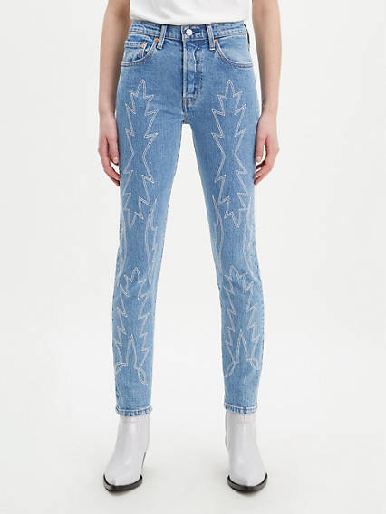 501® Stretch Skinny Embroidered Jeans