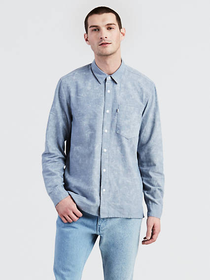 Line 8 One Pocket Long Sleeve Shirt