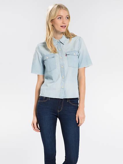 Orange Tab 70's Western Shirt