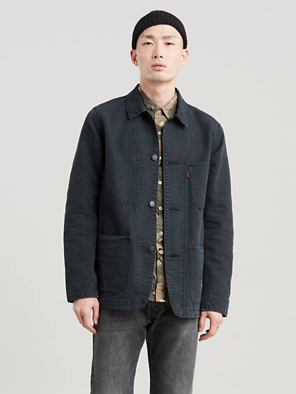 Men's Vintage Style Coats and Jackets Levis Engineers Coat - Mens L $69.98 AT vintagedancer.com