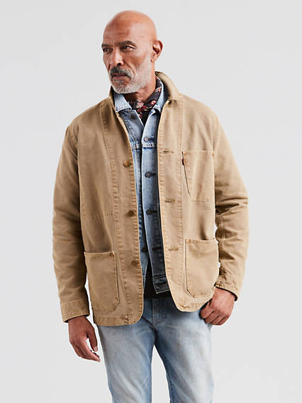 Men's Vintage Style Coats and Jackets Levis Engineers Coat - Mens 2XL $69.98 AT vintagedancer.com