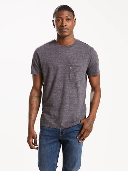 T-shirt à poche coucher de soleil