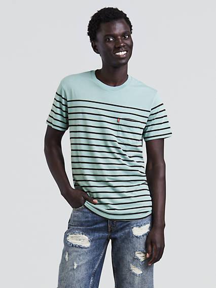 T-shirt à poche crépuscule
