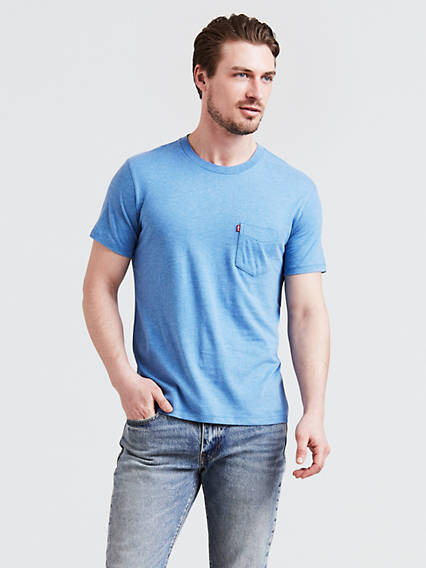 Short Sleeve Set-In Sunset Pocket T-Shirt