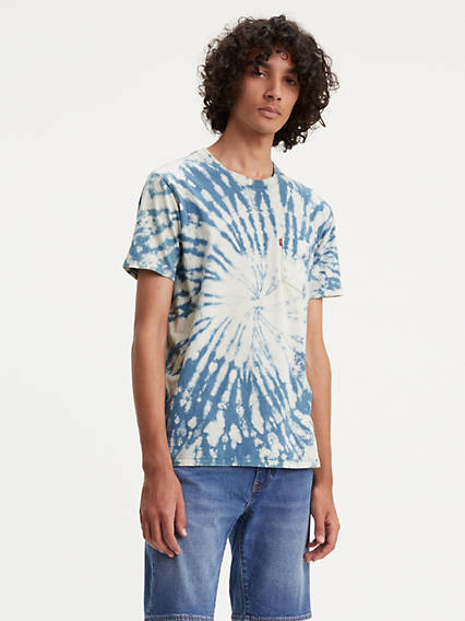 Tie Dye Sunset Pocket Tee Shirt