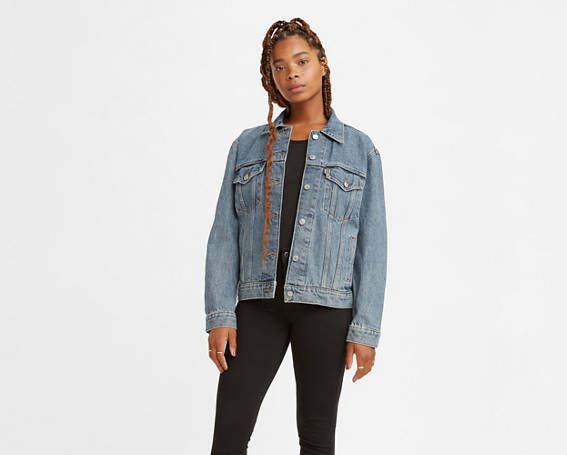 Ex-boyfriend Trucker Jacket - Medium Wash | Levi's® US