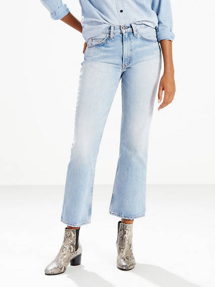 60s – 70s Pants, Jeans, Hippie, Bell Bottoms, Jumpsuits Levis 517 Cropped Boot Cut Jeans - Womens 26 $49.98 AT vintagedancer.com