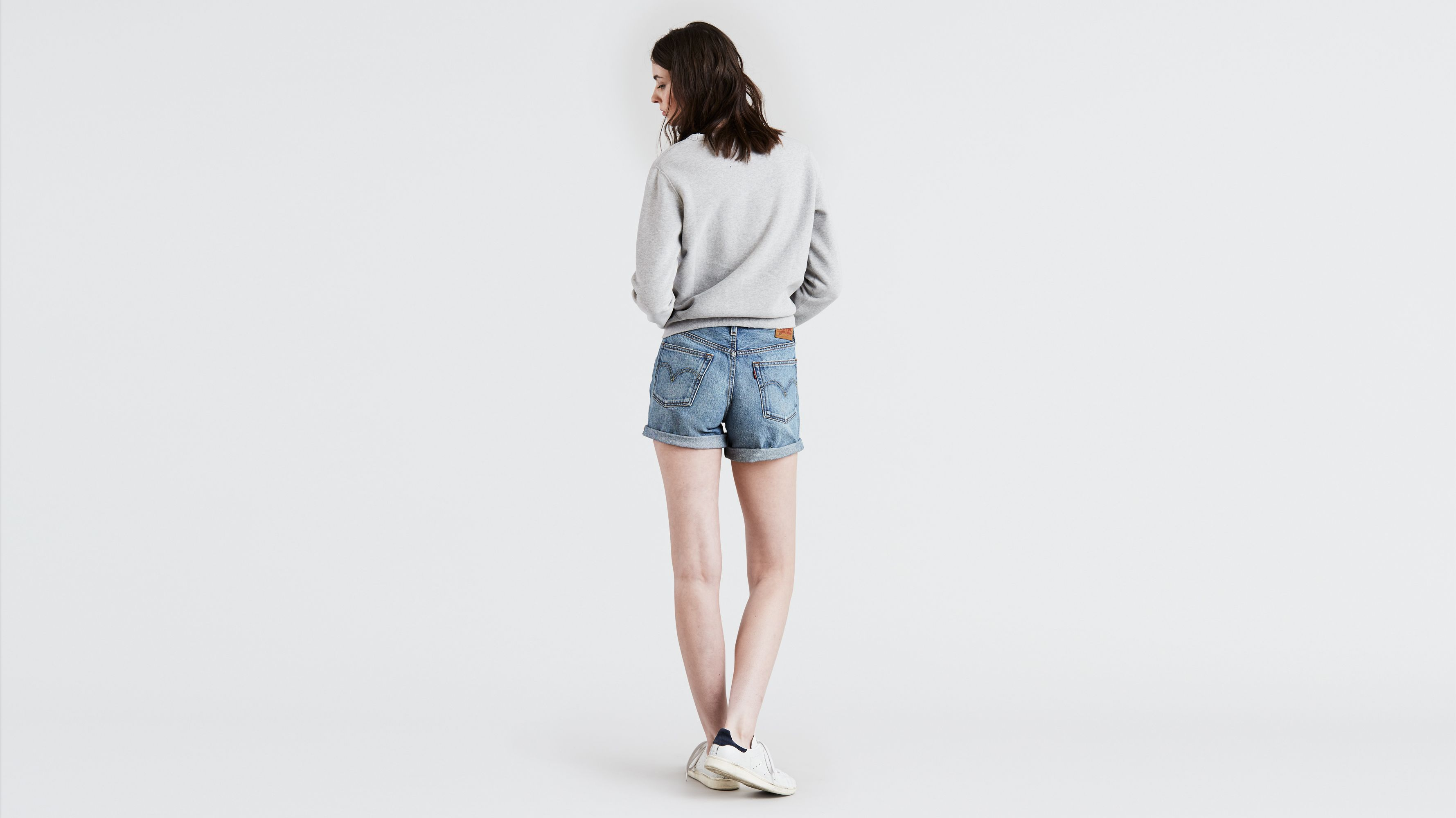 c7b9a69a 501® Long Shorts - Medium Blue | Levi's® GB