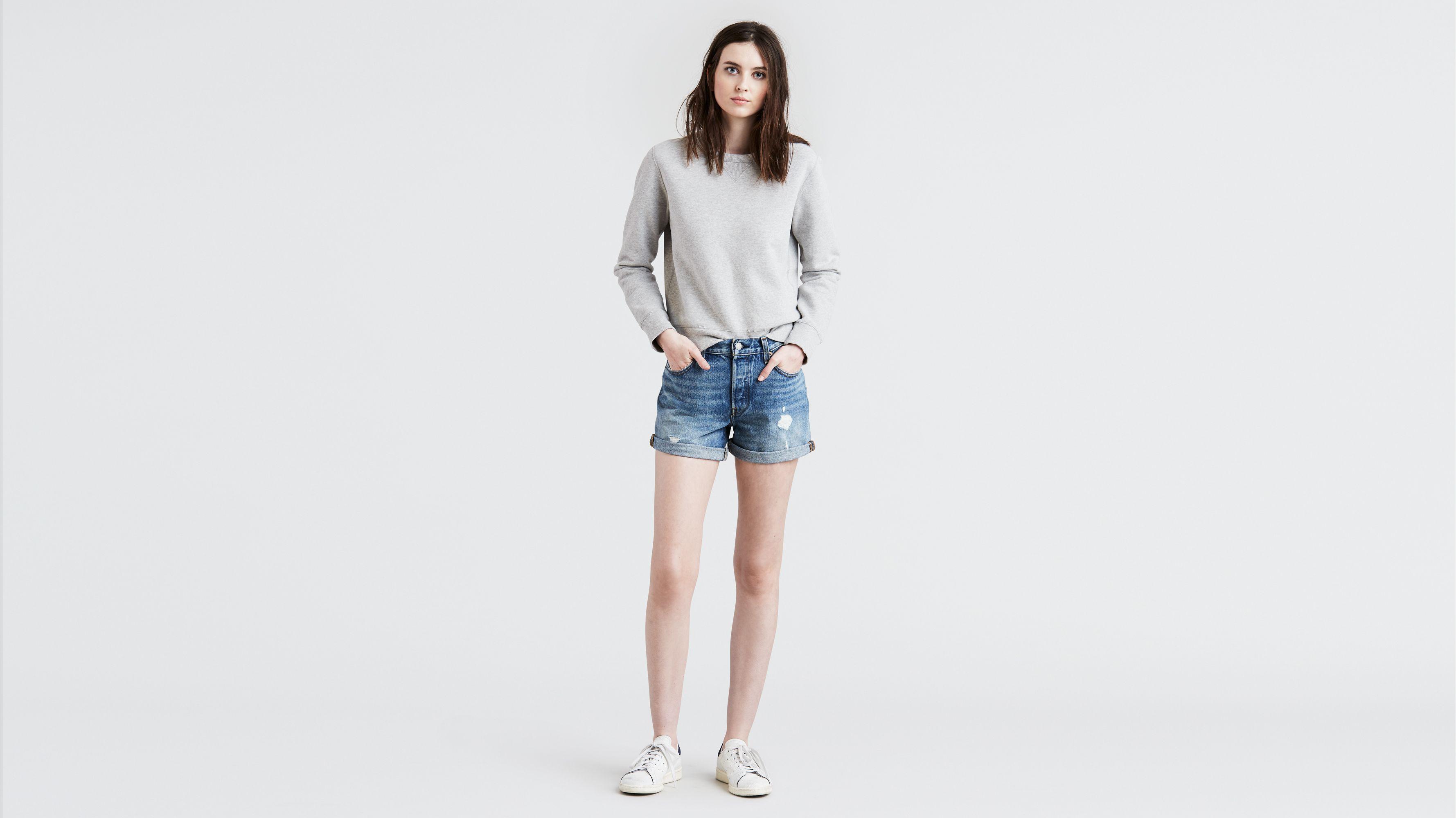 b7a65d2969 501® Long Shorts - Medium Wash | Levi's® US