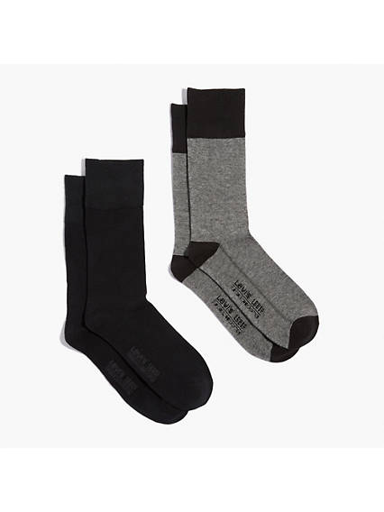 Levi's® Regular Cut Microstripe Socks (2 Pack)