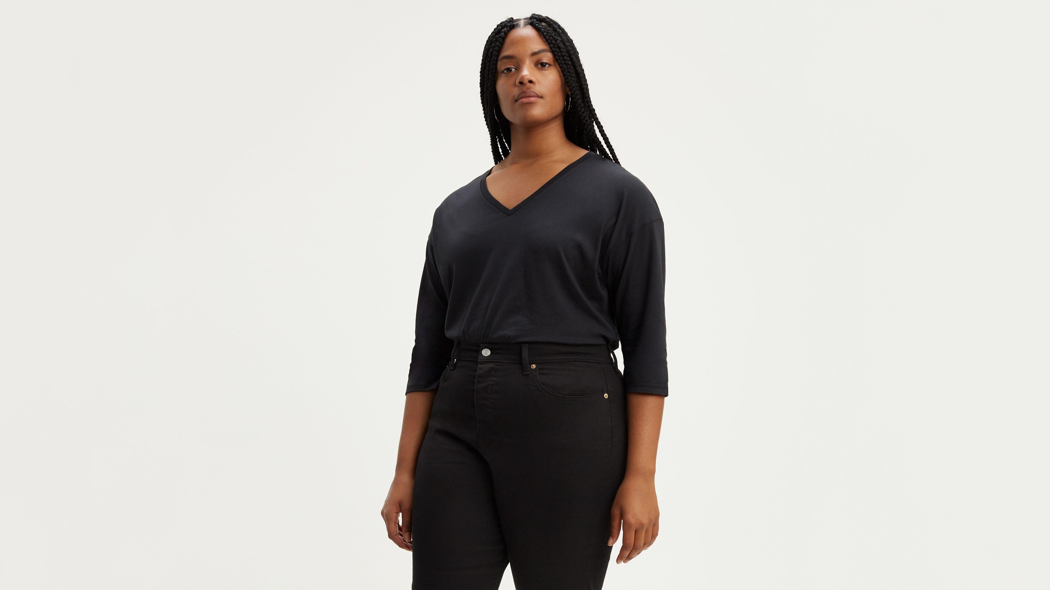 Long Sleeve Flowy Tee Shirt (Plus Size)