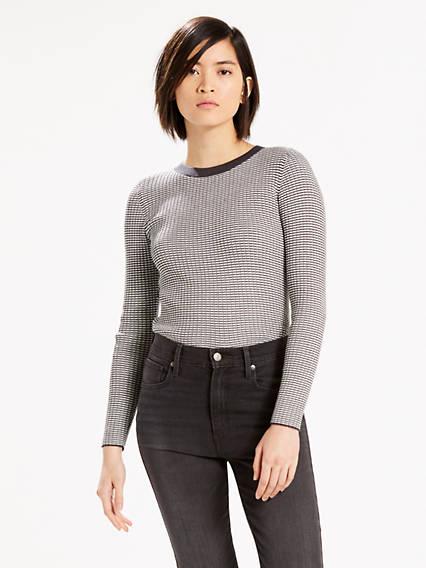 Fine Rib Pullover Sweater