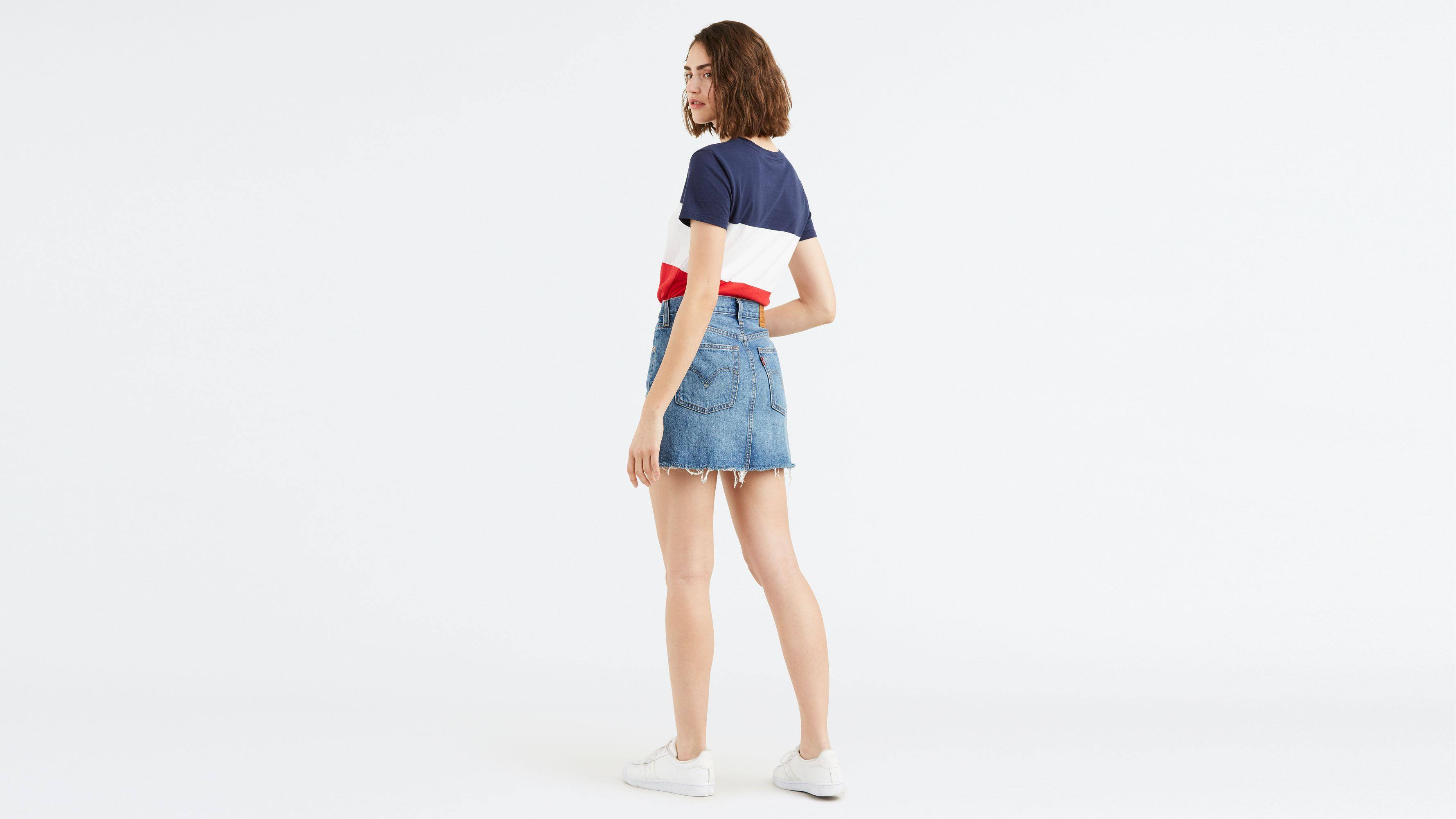 b5e6549119a9f4 Deconstructed Mini Skirt