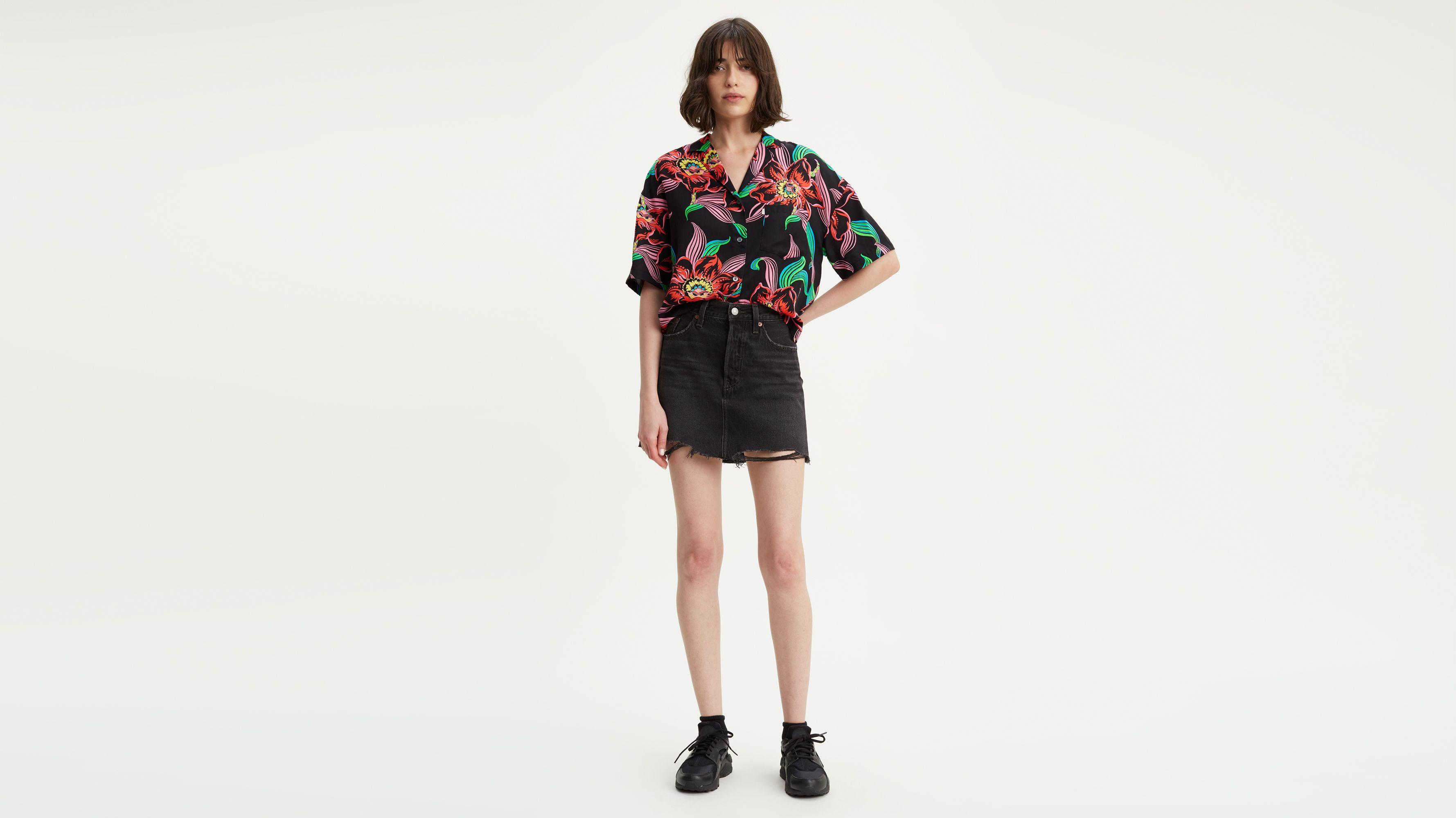 Deconstructed Mini Skirt