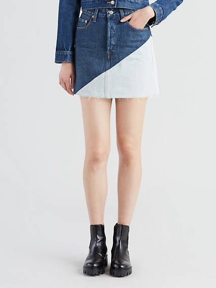 Deconstructed Mini Skirt
