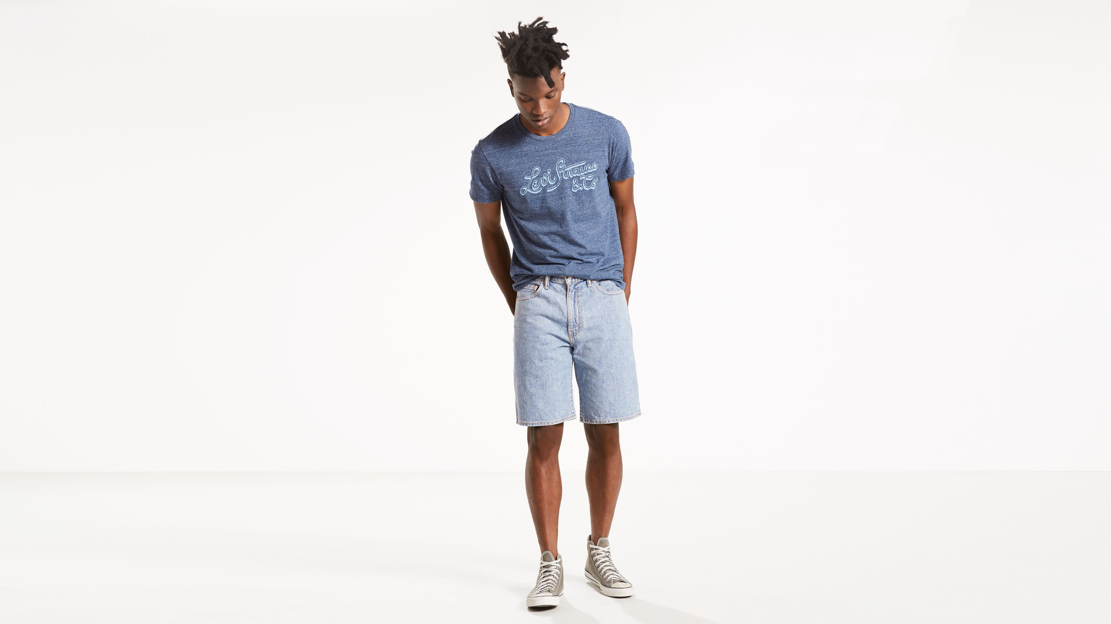11a4f416 550™ Relaxed Fit Shorts - Light Wash | Levi's® US