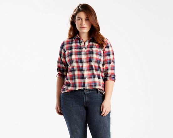 Boyfriend Shirt Plus Size Blue Levis Us