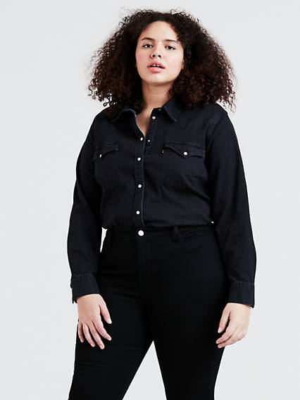 f5506323119 Women s Black Western Shirts