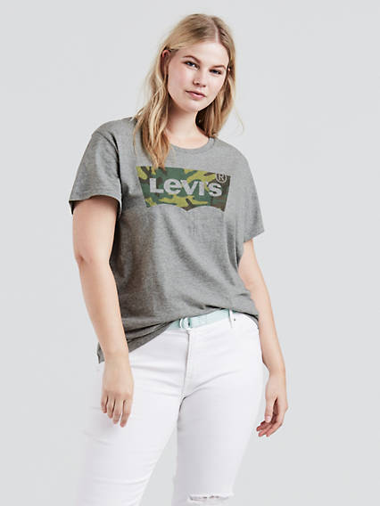 Levi's® Perfect Logo Tee Shirt (Plus Size)