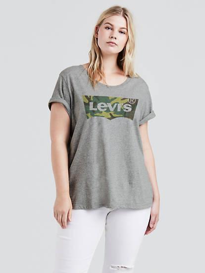 b2f9c071 Levi's® Logo Perfect Tee Shirt (plus Size) - White   Levi's® US