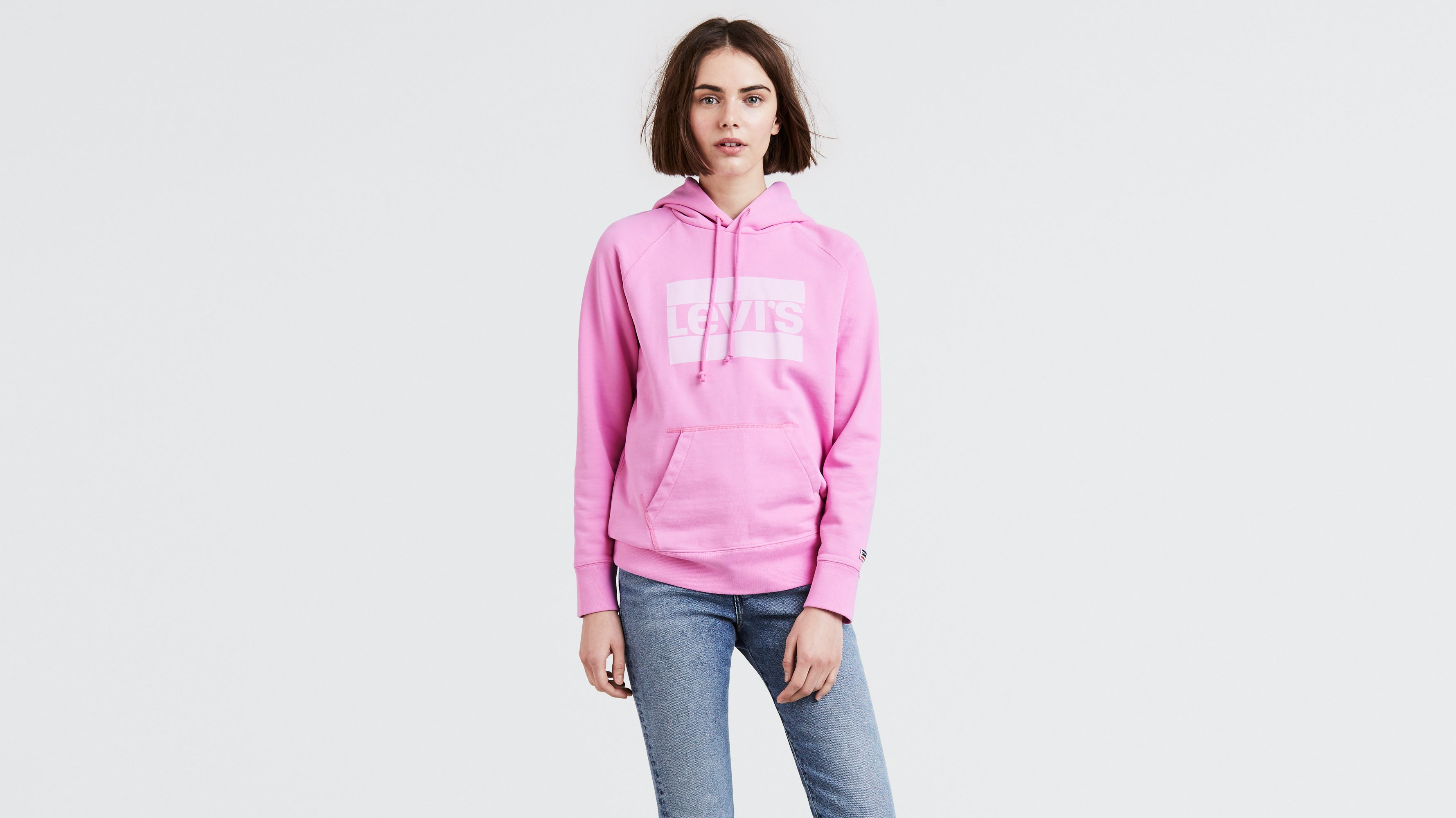 923814f8e5a Graphic Sport Hoodie - Pink