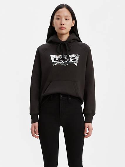 Levi's® Sequin Logo Sport Hoodie