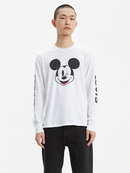 Levi's® x Disney Mickey Mouse Long Sleeve Graphic Tee Shirt