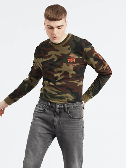 Camo Levi's® Logo Long Sleeve Tee Shirt