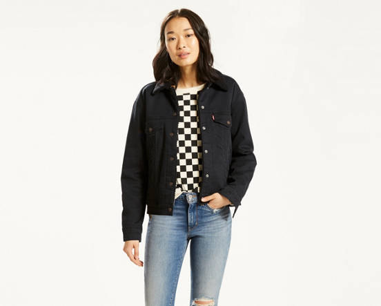 a360a426f4 Mouse over image for a closer look. Ex-Boyfriend Sherpa Trucker Jacket ...
