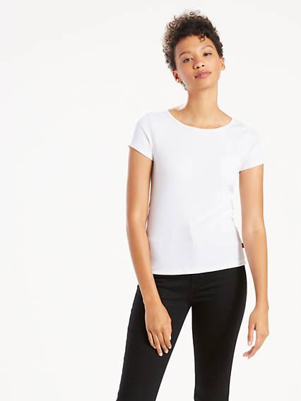 T-shirt à côtes étroit