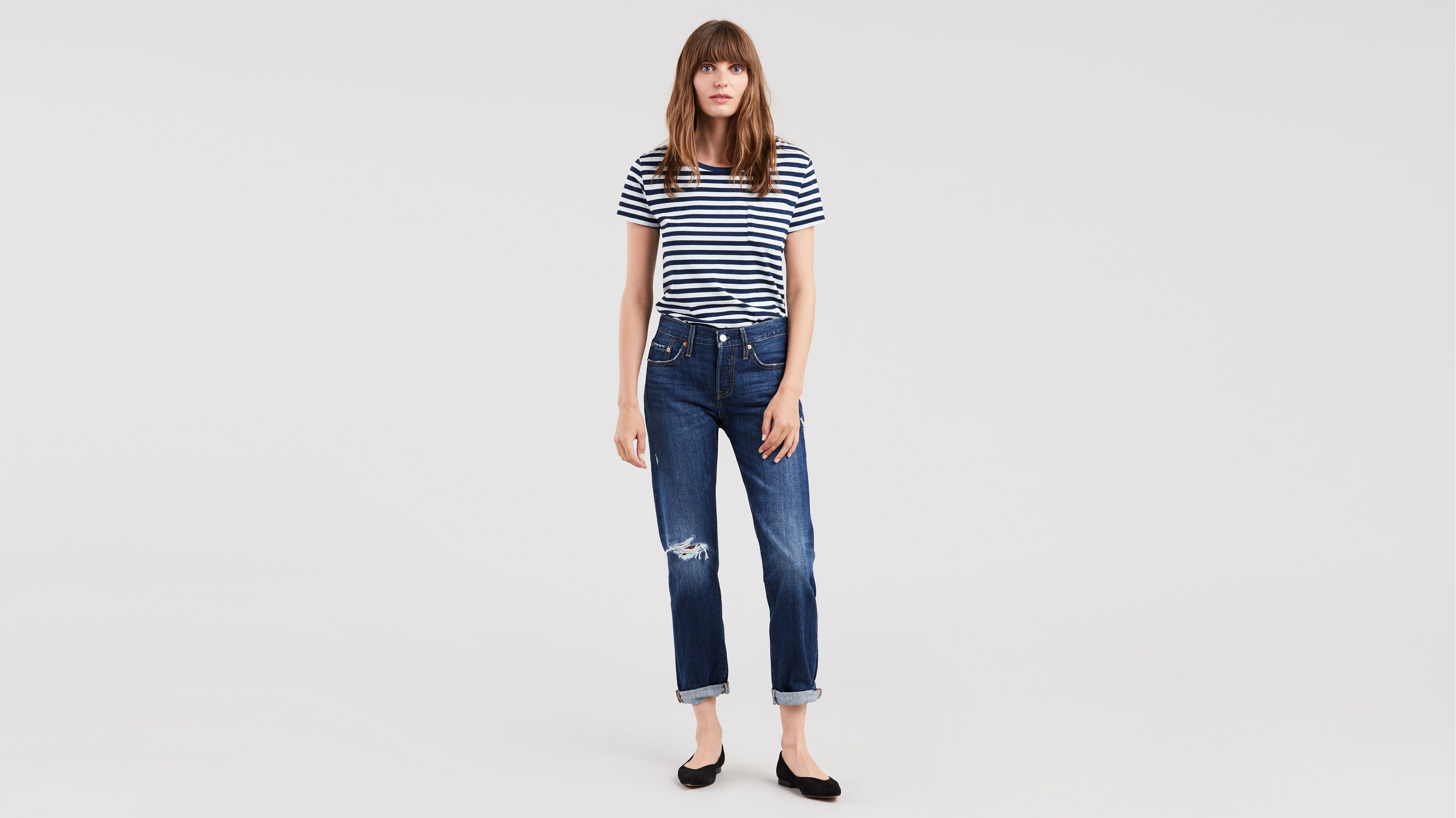 Damen 501 Taper Straight Jeans