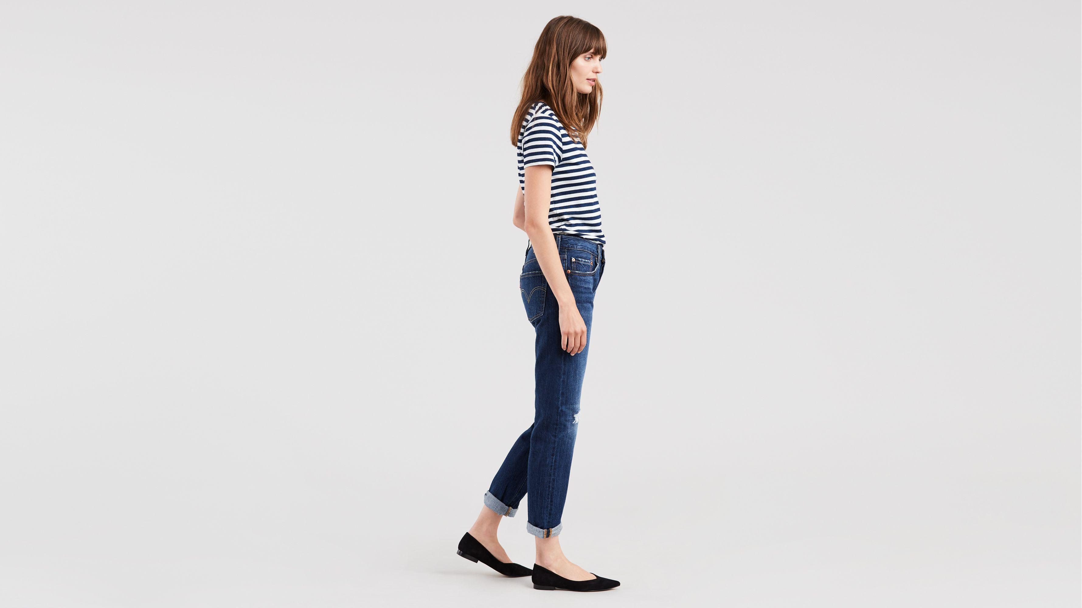 ba570f5a58c0ab 501® Taper Jeans - Åšrednie Niebieski | Levi's® PL