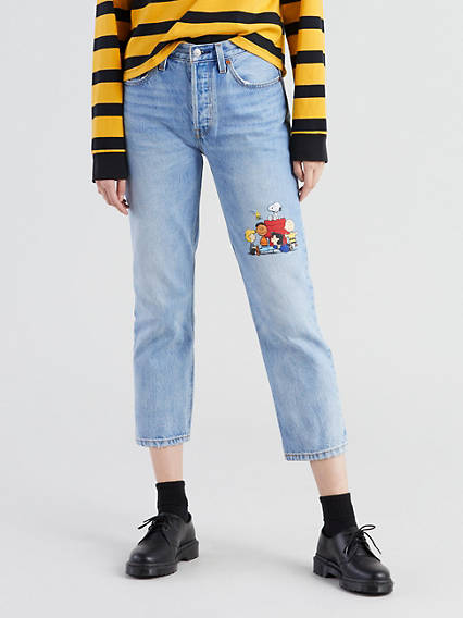 Levi's® X Peanuts 501® Original Cropped Jeans