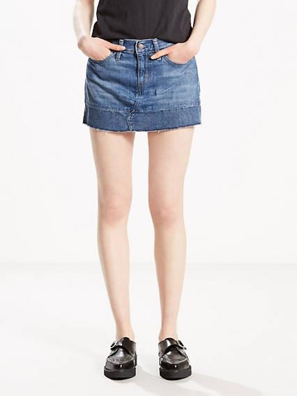 Seamed Mini Skirt