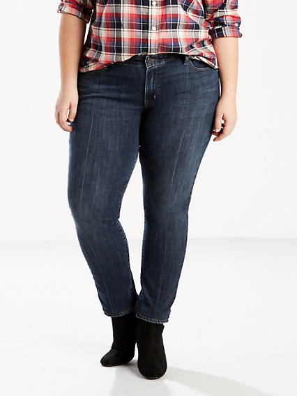 711 Pin Tucked Skinny Jeans (Plus Size)