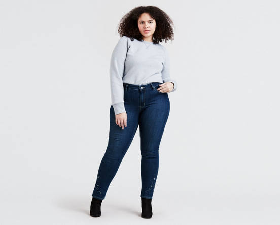 60e5f73b880 Mouse over image for a closer look. 711 Embroidered Skinny Jeans (Plus Size)  ...