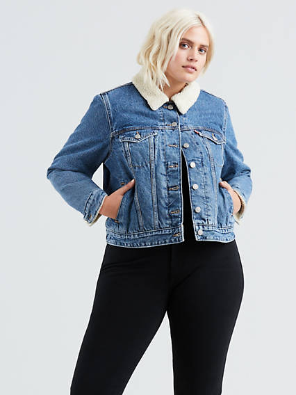 Sherpa Trucker Jacket (Plus Size)