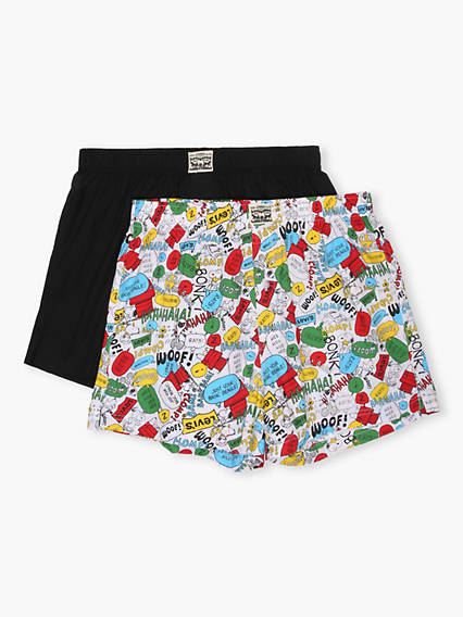 Levi's® x PEANUTS® 300 Series Snoopy Print Woven Boxer 2 Pack