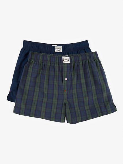 Levis 300Ls Blackwatch Check Woven Boxer 2 Pack