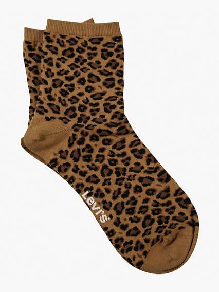 Levi's® Women Leopard Short Sock 1 Pack